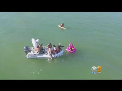 Boat Pulling People In Water Toys Comes Dangerously Close To Sharks