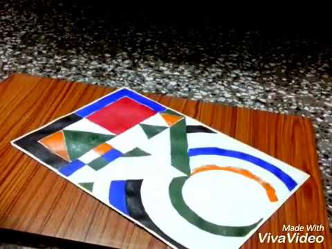 My tribute to S. H. RAZA. speed painting in acrylic - Enlightened.