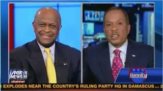 """Herman Cain & Juan Williams debate Rush being """"ashamed""""."""