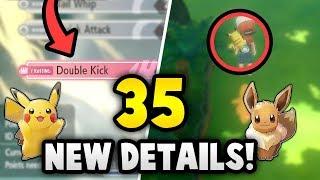 35 NEW DETAILS about Pokémon Let's Go Pikachu & Eevee!
