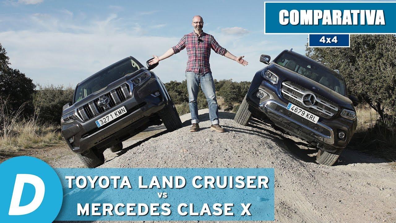 Comparativa 4x4 ¡al límite!: Toyota Land Cruiser vs Mercedes Clase X | Prueba Offroad | Diariomotor