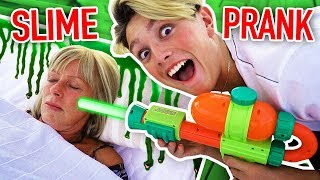 CRAZY DIY SLIME PRANK ON MUM!! *GONE WRONG* (Prank Wars)