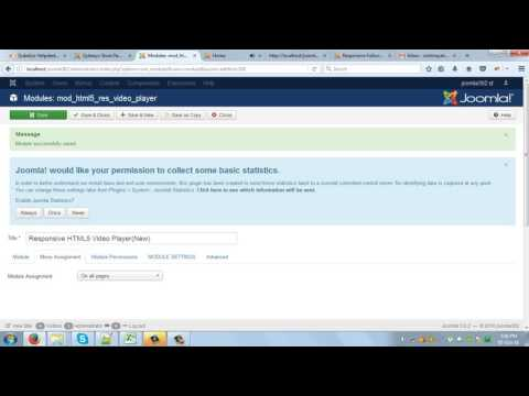 Responsive HTML5 Video Player(NEW) Joomla Module