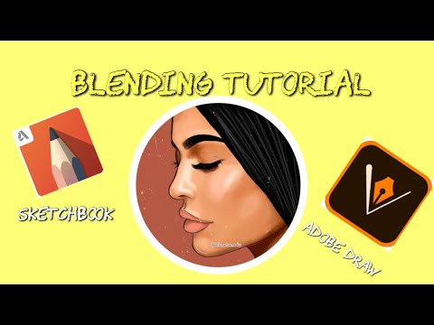 BLENDING TUTORIAL W/ STEPS (MUST WATCH ❗️❗️❗️❗️ ) ON ADOBE DRAW
