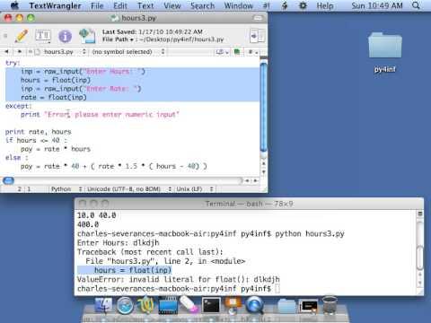 Python for Informatics: Exercise 3 2