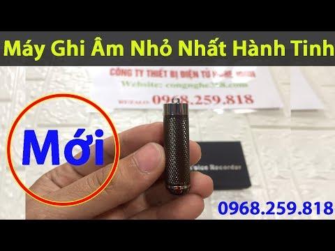 Máy Ghi âm M06 Mini Siêu Nhỏ Giá Rẻ Bộ Nhớ Trong 8GB Mới Nhất 2019