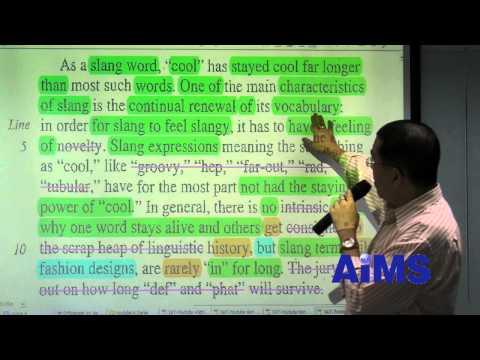 SAT Critical Reading: ตัวอย่างการสอนโดยสถาบันเอมส์