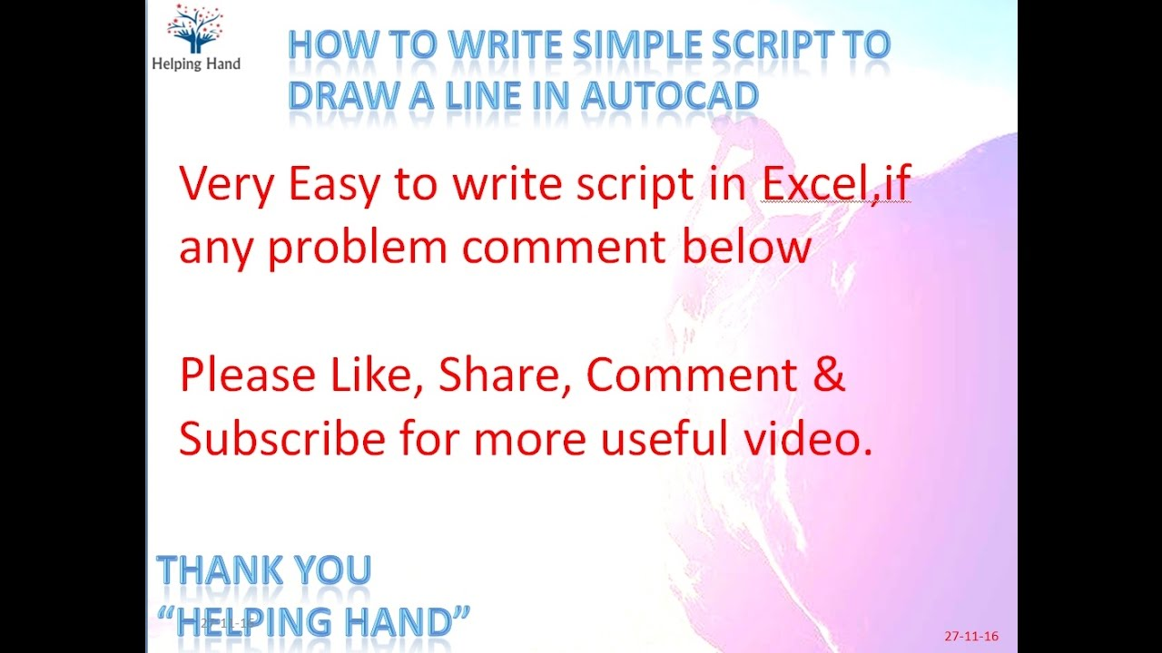 how to write a script elementary