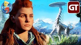 Thumbnail für Jurassic Park mit Robo-Dinos | HORIZON: ZERO DAWN in der E3-Auswertung - Trailer-Check zum Gameplay