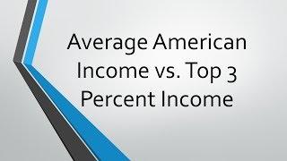 Average american income vs top 3 percent income