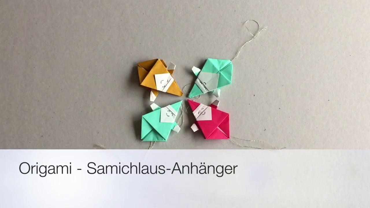 Origami Santa Claus Ornament For Christmas