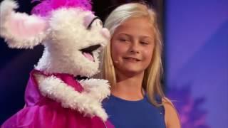 Выступление 12 - летней чревовещательницы, покорившей зрителей американского шоу талантов