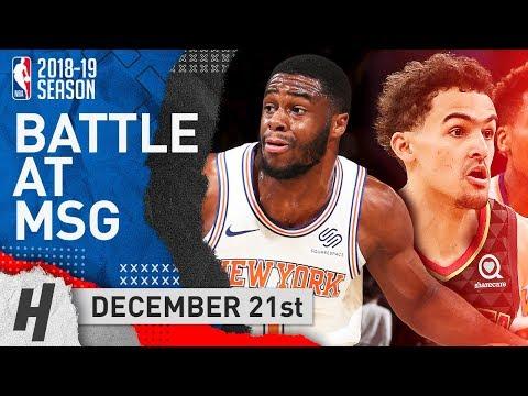 Trae Young vs Emmanuel Mudiay NASTY PG Duel at MSG (2018.12.21) | NBA Highlights