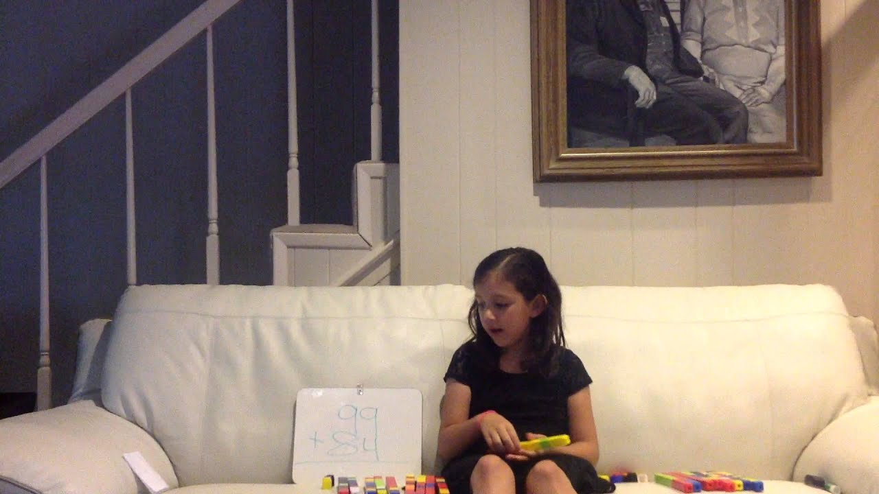 Watch As Olivia Teaches You How Do Double Digit Addition With Regrouping Using Base Ten Blocks