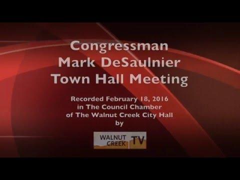 Town Hall Meeting with Congressman Mark Desaulnier: Feb. 2016
