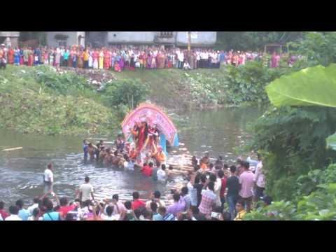 krishnanagar  RajBarir  Durga Protima Bisorjon 2016