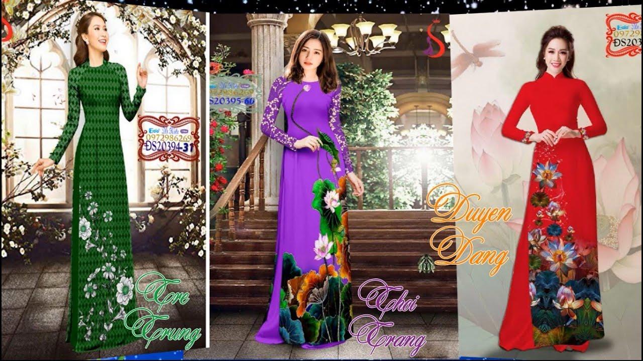Thời trang áo dài đẹp & độc lạ {video-ĐS394402} Vải Áo Dài S