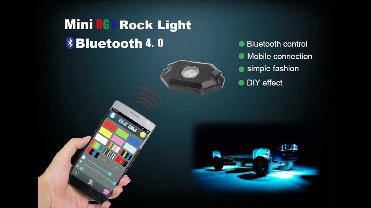 Universal Fit High Power Rgb Led Rock Light Kit For Jeep Truck Suv Offroad  Boat  Youtube