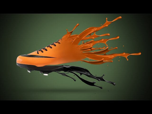 Photoshop Tutorial   Shoe paint splatter   Manipulation India