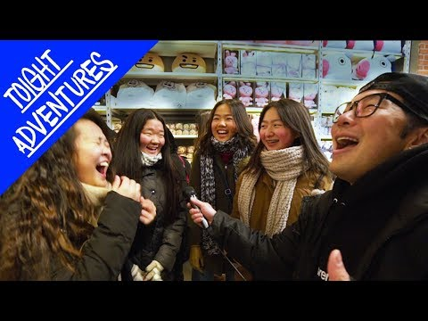 FINISH THE LYRICS (BTS) at the BT21 Store in NYC!! - KPOP IN PUBLIC