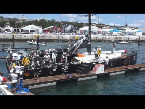 Adu Dhabi team docking in Lisbon