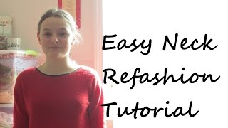 Refashion Tutorial: Turtleneck to Crewneck - DIY