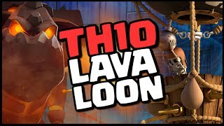 TH10 LAVALOON Attack Strategy - Strong 3 Star CoC War Raids | Clash of Clans