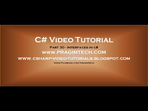 Part 30 - C# Tutorial - Interfaces in c#.avi