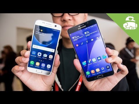 Samsung Galaxy S7 vs Galaxy Note 5 Hands On Comparison