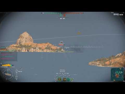 World of Warships - Colorado gameplay