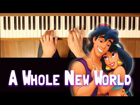 A Whole New World Easy Piano Tutorial
