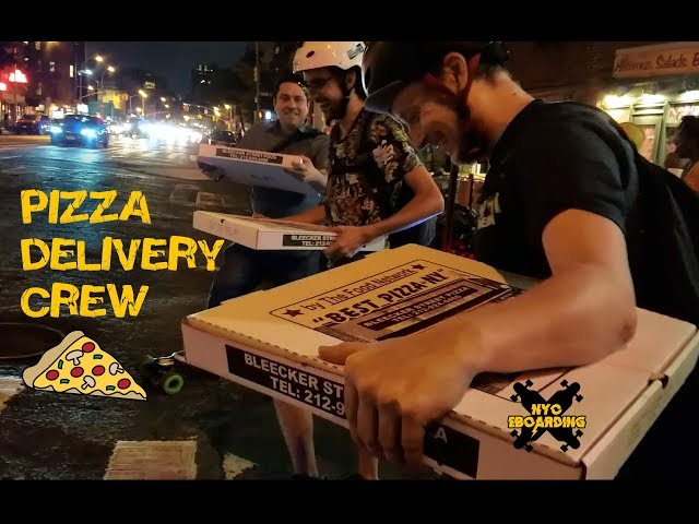 NYC EBoarding Pizza Delivery Crew
