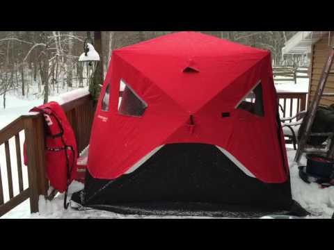 Eskimo 949i Pop Up Ice Shanty - YouTube