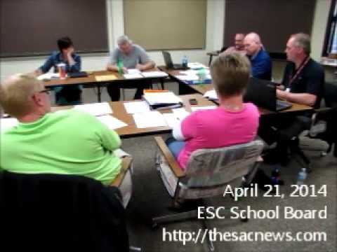 April 21, 2014 ESC School Board Meeting