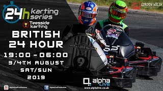 British 24 Hour Kart Race 2019 LIVE from Teesside 19:00 to 06:00