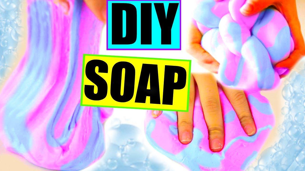 子供工作☆スライム石鹸の作り方♡ぐにょぐにょ