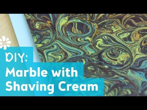 DIY Marble Art with Shaving Cream | Sea Lemon