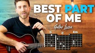 Best Part Of Me Guitar Tutorial - Easy Chords + TABS (Ed Sheeran ft. Yebba))