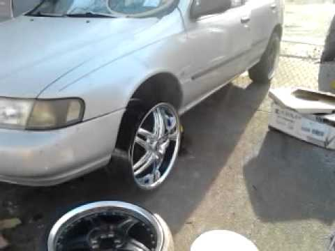 the new 2 crave 20 inch rims for the nissan