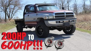 12 VALVE CUMMINS GOES FROM 200HP TO 600HP!? HERE'S HOW!!!
