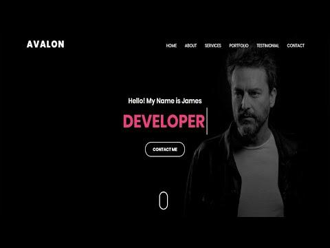 Avalon-Personal Portfolio HTML Template | Bootstrap Template