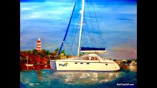 "Oil Painting the Sailboat ""Mahi"" in the Bahamas"