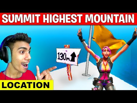 Summit The Highest Mountain Wearing The Journey Outfit - Location Alter Ego Challenges Fortnite
