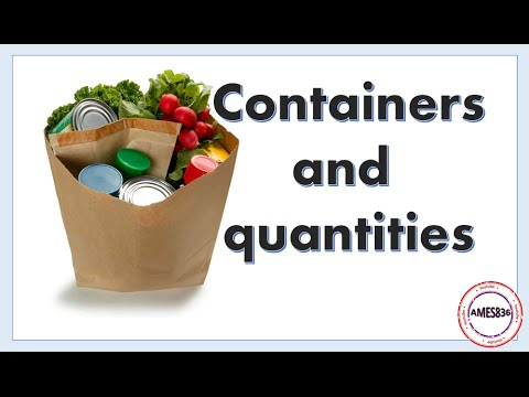 Containers And Quantities, Expressing Quantity in English