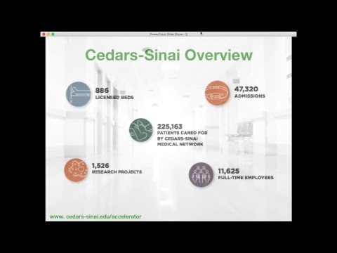 About the Cedars-Sinai Accelerator Powered by Techstars 2018 Program: Webinar