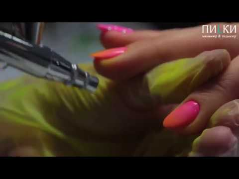 Изысканая форма ногтей миндаль и покрытие гель-лаком в технике градиент