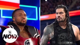 roman reigns and big e battle over inches and ounces on social media wwe now
