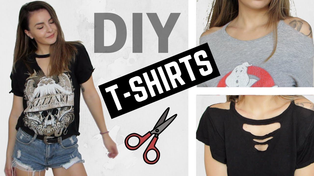 Diy Distressed Cut Out T Shirts