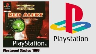 Command & Conquer Red Alert - Allied Campaign (PS1)(1996) Intro + Gameplay (HD)