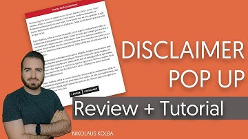 WordPress Disclaimer Pop Plugin - Review & Test - WP Terms Popup
